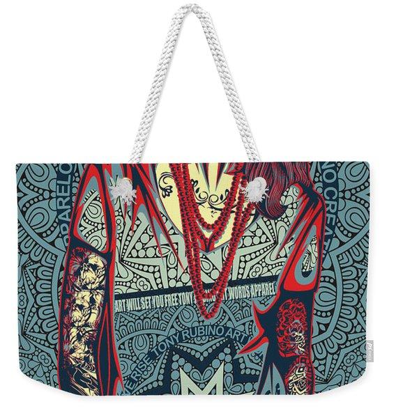 Rubino Red Lady Weekender Tote Bag