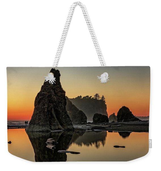 Ruby Beach At Sunset Weekender Tote Bag