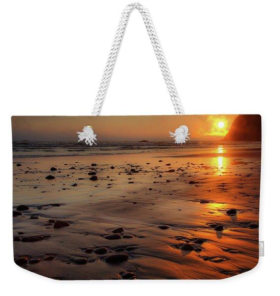 Ruby Beach Sunset Weekender Tote Bag