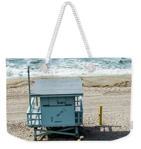 Weekender Tote Bag featuring the photograph Ruby by Eric Lake