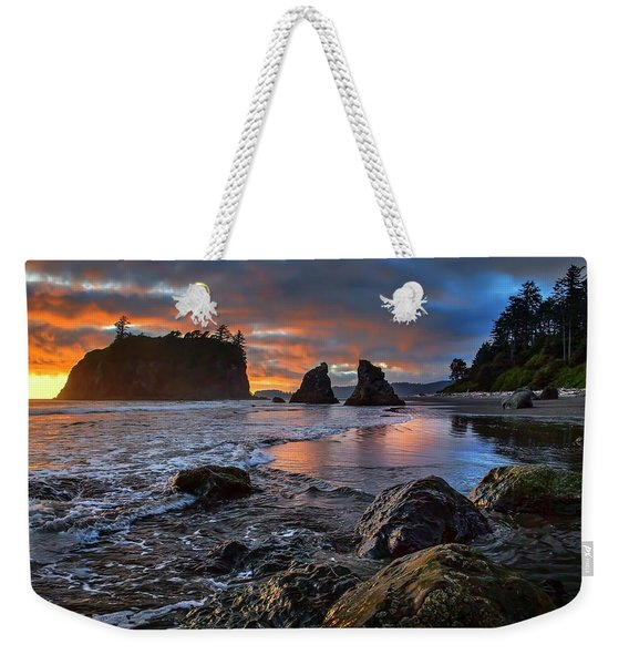 Ruby In The Rough At Sunset Weekender Tote Bag