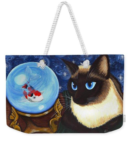 Rue Rue's Fortune - Siamese Cat Koi Weekender Tote Bag