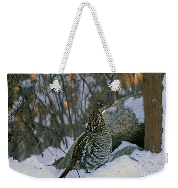 Ruffed Grouse Weekender Tote Bag