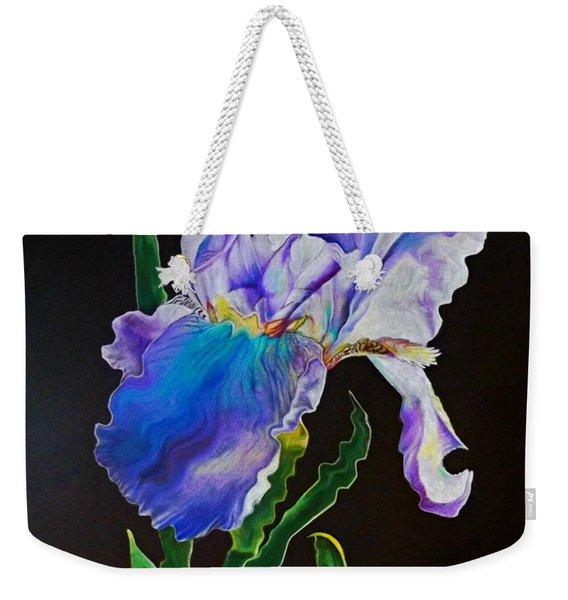 Ruffled Iris Weekender Tote Bag