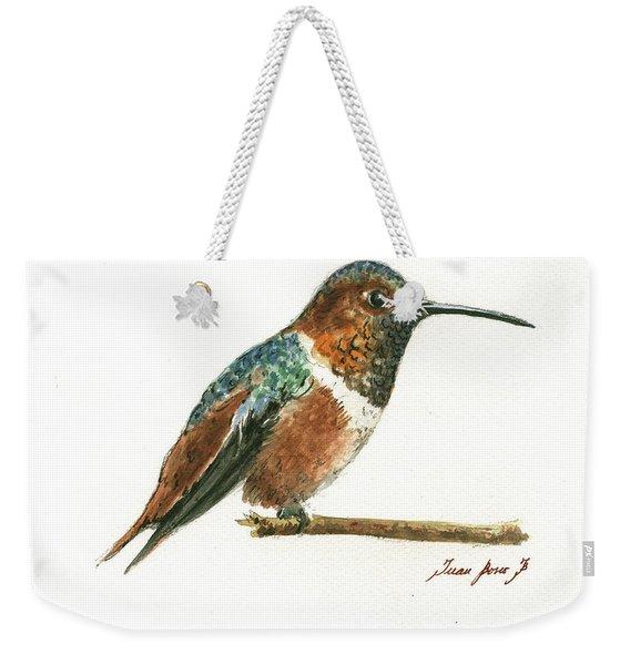 Rufous Hummingbird Watercolor Weekender Tote Bag