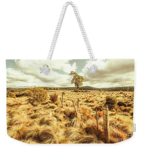 Rugged Australian Pastures Weekender Tote Bag