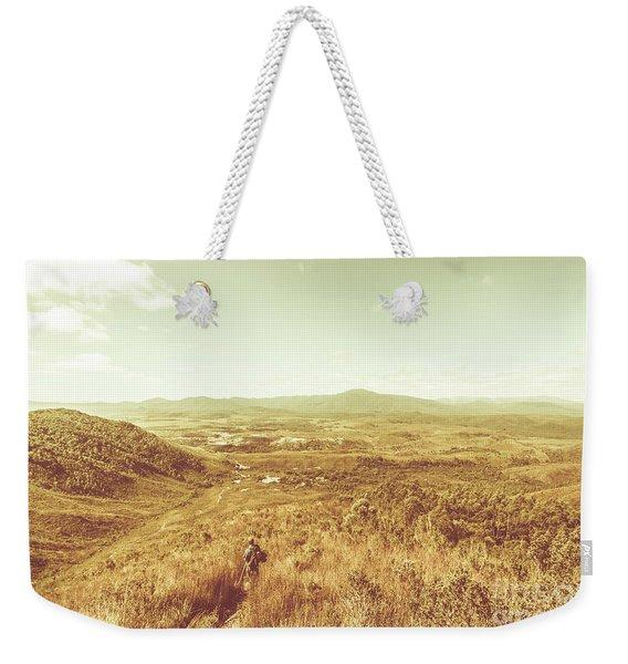 Rugged Bushland View Weekender Tote Bag