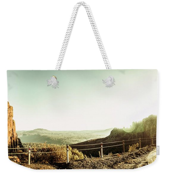 Rugged Mountain Trail Weekender Tote Bag