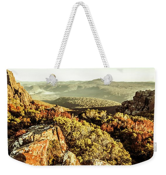 Rugged Mountaintops To Regional Valleys Weekender Tote Bag