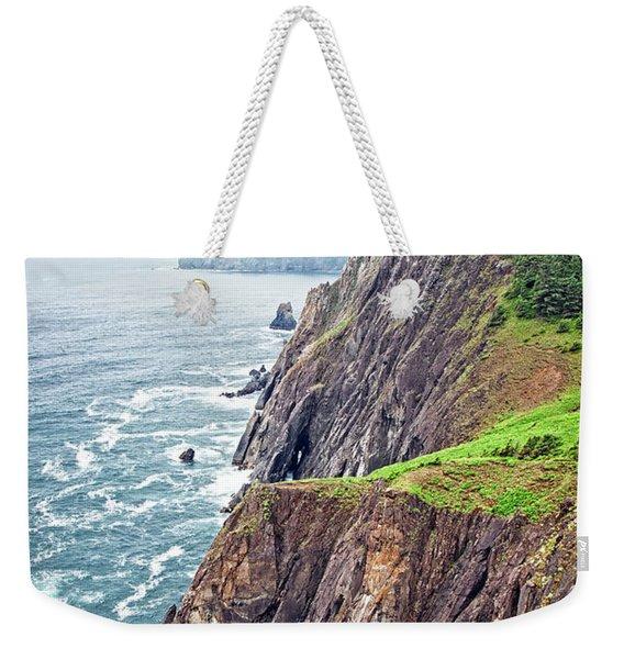Rugged Oregon Coast On A Foggy Day Weekender Tote Bag