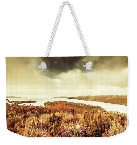Rugged River Scene Weekender Tote Bag