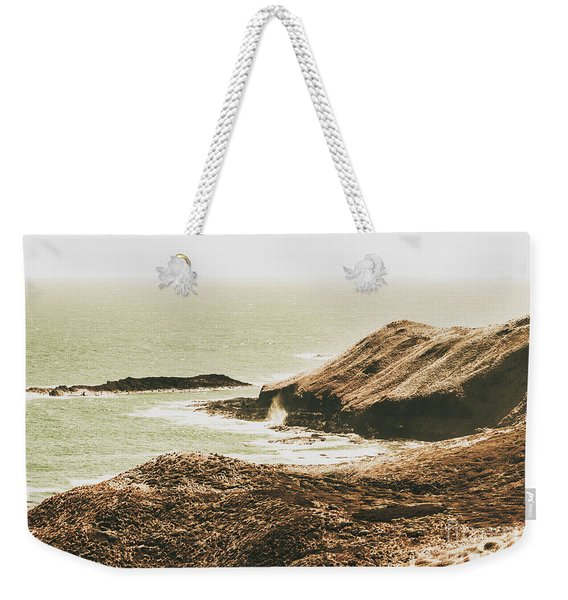 Rugged Rocky Cape Weekender Tote Bag