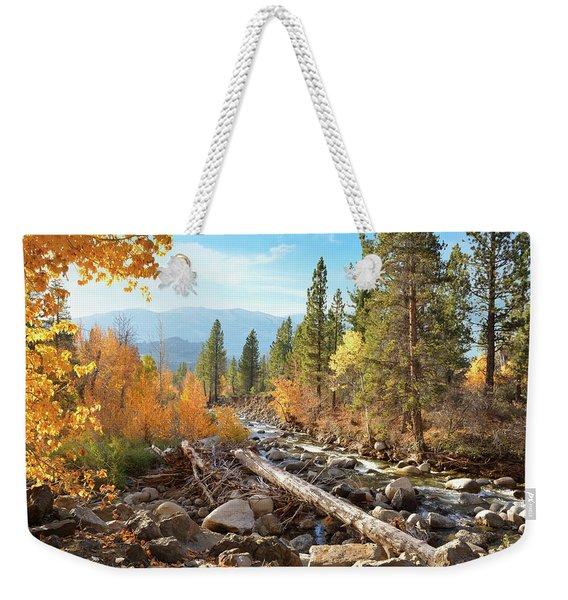 Rugged Sierra Beauty Weekender Tote Bag