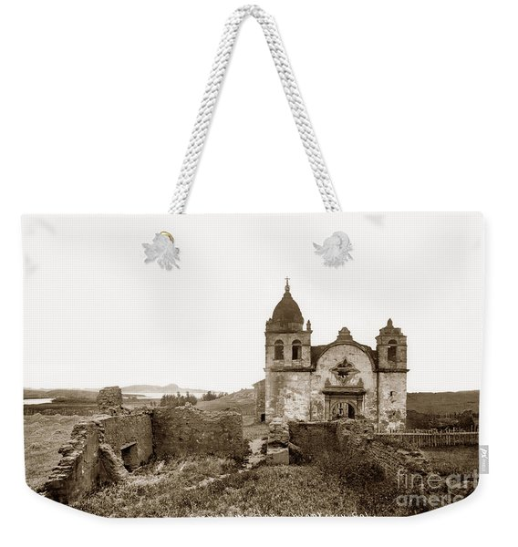 Ruins Of Carmel Mission, Monterey, Cal. Circa 1882 Weekender Tote Bag