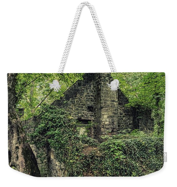 Weekender Tote Bag featuring the photograph Run Down Mill by Nick Bywater