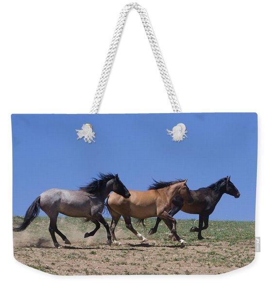 Running Free- Wild Horses Weekender Tote Bag