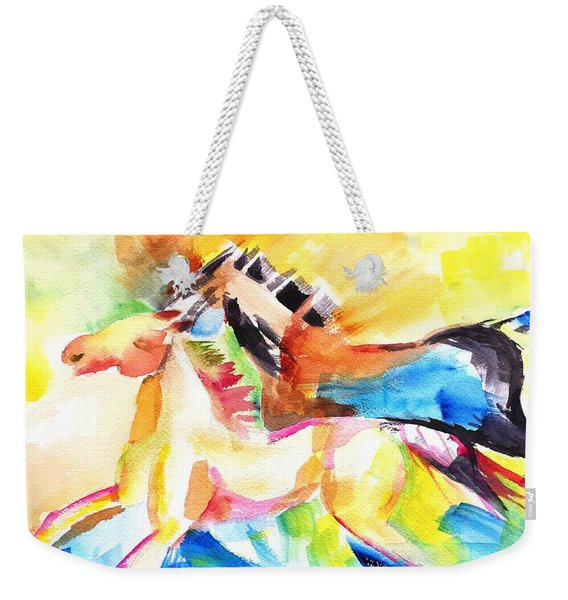 Running Horses Color Weekender Tote Bag