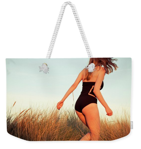 Running Unsharp In The Golden Hour Weekender Tote Bag