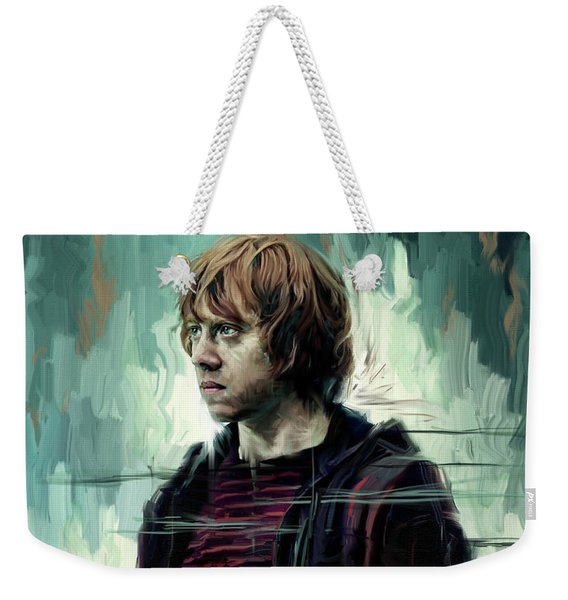 Rupert Grint As Ronald Weasley Weekender Tote Bag