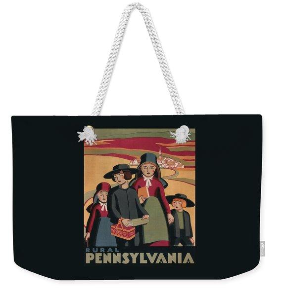 Rural Pennsylvania - Vintage Wpa Travel Weekender Tote Bag