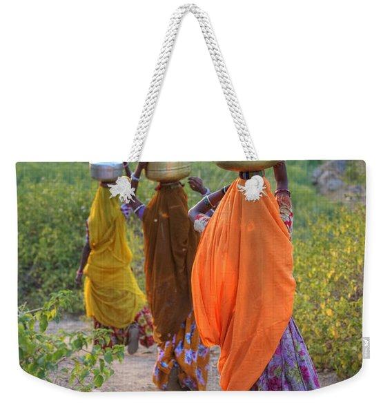 rural Rajasthan Weekender Tote Bag