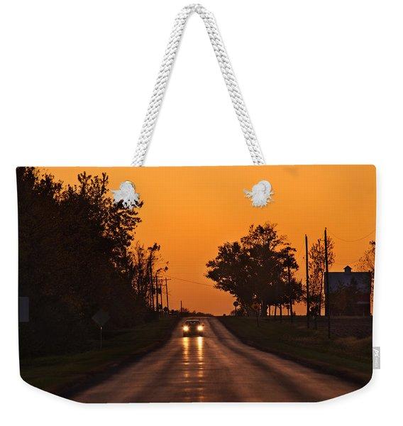 Rural Road Trip Weekender Tote Bag