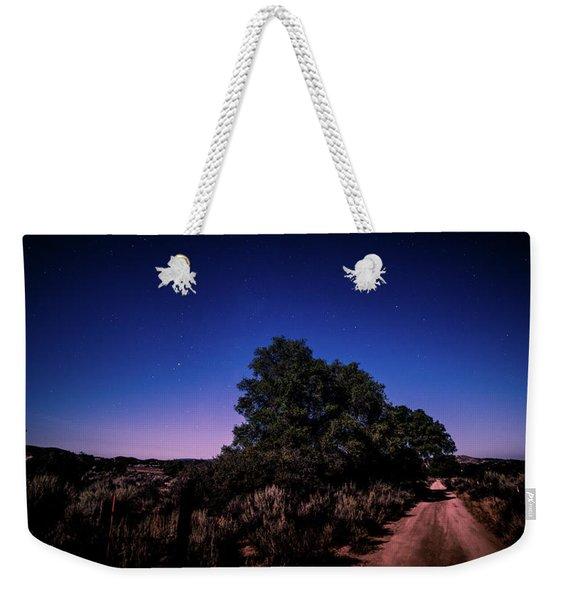 Rural Starlit Road Weekender Tote Bag