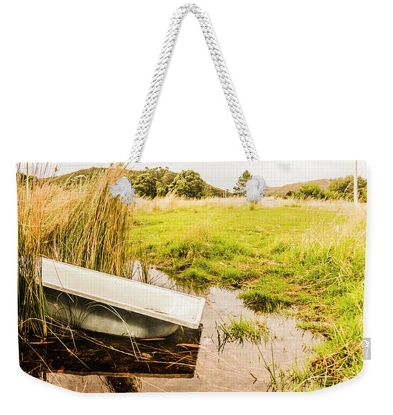 Rural Tasmania Farm Scene Weekender Tote Bag