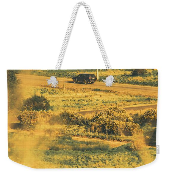 Rural Tasmania Landscape At Summer Weekender Tote Bag