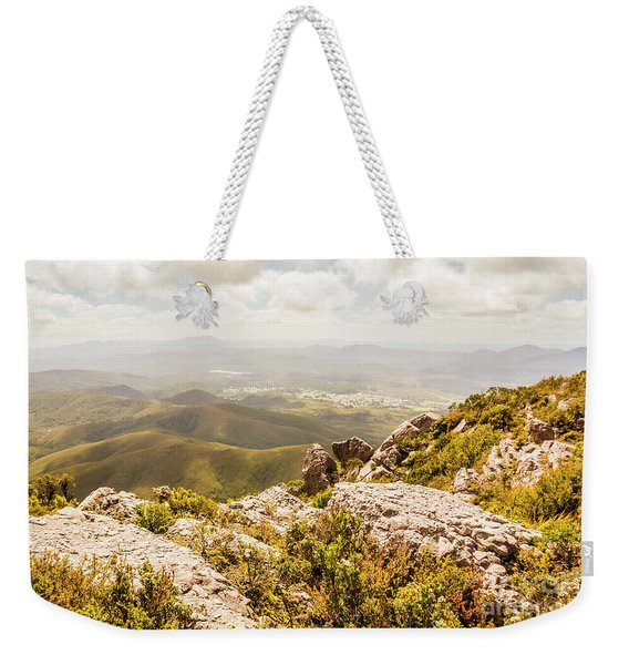Rural Town Valley Weekender Tote Bag