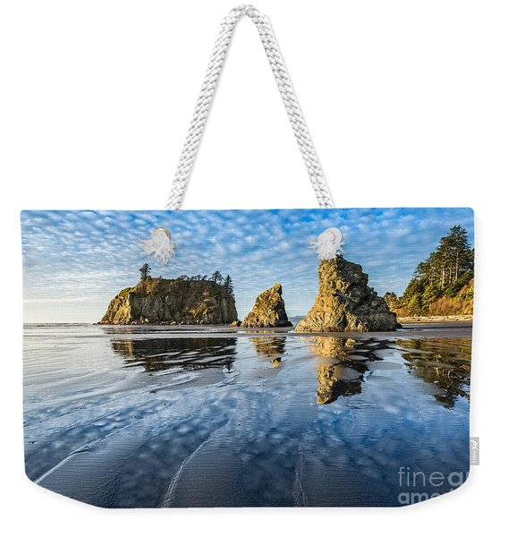 Ruby Beach Reflection Weekender Tote Bag