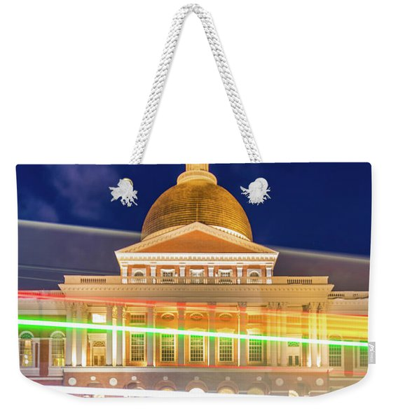 Rush Hour In Front Of The Massachusetts Statehouse Weekender Tote Bag