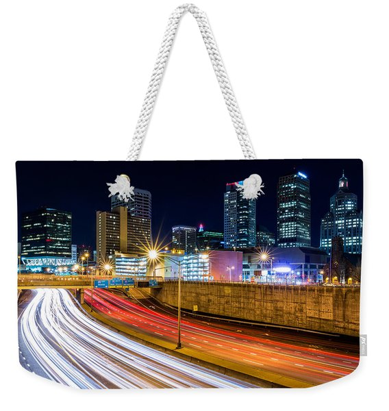Weekender Tote Bag featuring the photograph Rush Hour In Hartford, Ct by Mihai Andritoiu