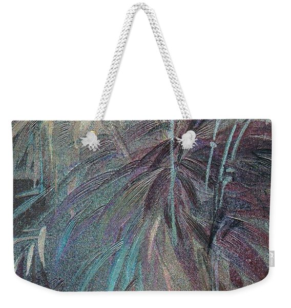 Weekender Tote Bag featuring the mixed media Rush by Writermore Arts