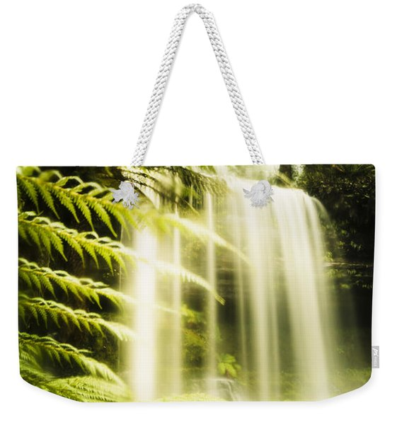 Russell Falls Background Weekender Tote Bag