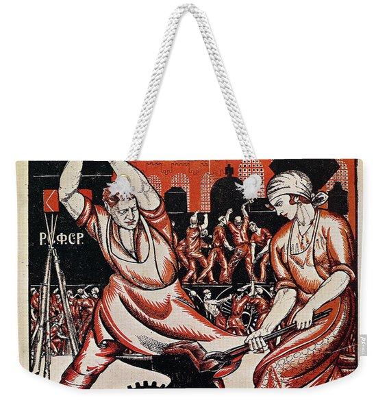 Soviet Poster, 1920 Weekender Tote Bag