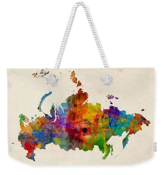Russia Watercolor Map Weekender Tote Bag