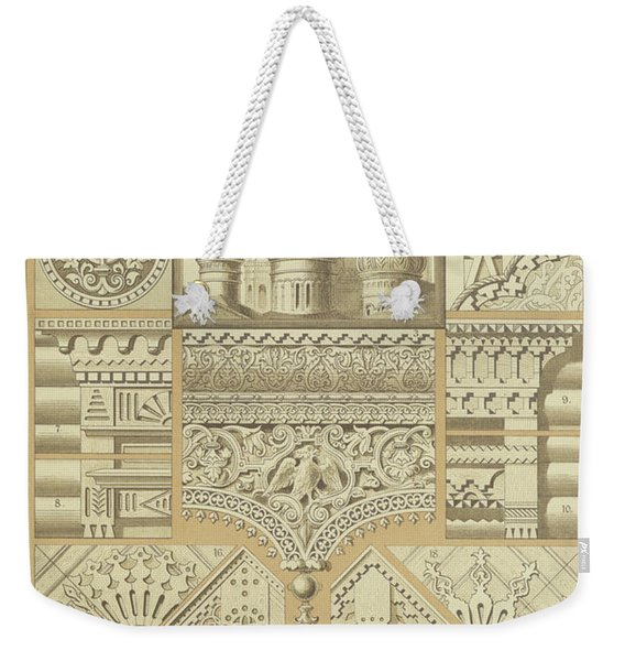 Russian, Architectural Ornaments And Wood Carvings Weekender Tote Bag