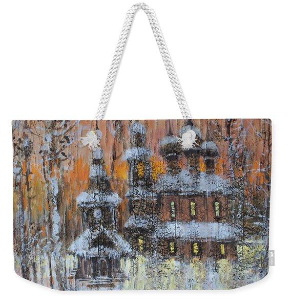 Russian Church Under Snow Weekender Tote Bag