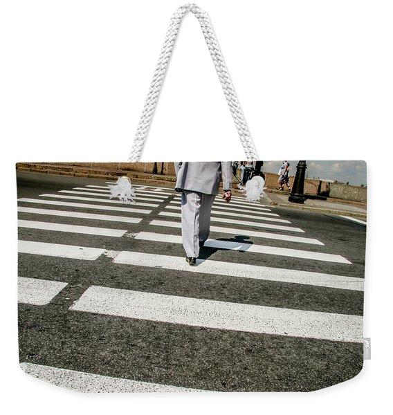 Russian Street Crossing Weekender Tote Bag
