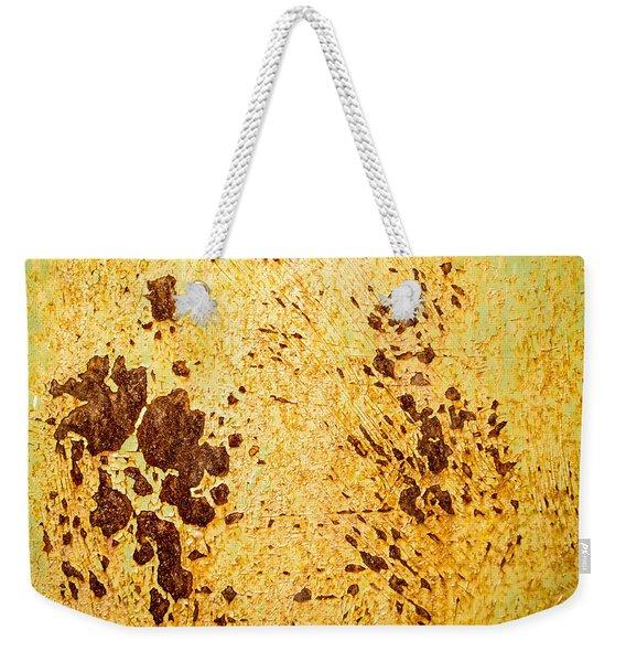 Rust Metal Weekender Tote Bag