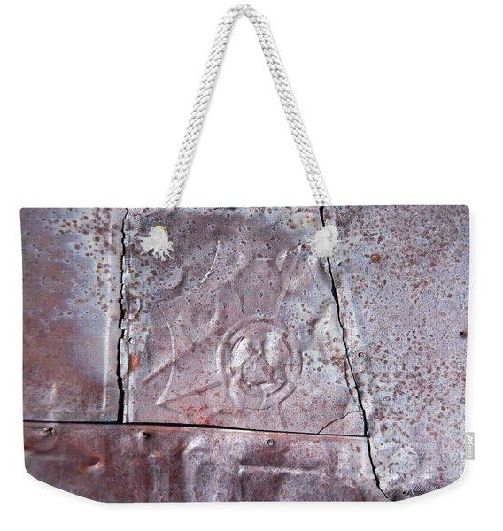 Rusted Tin Weekender Tote Bag