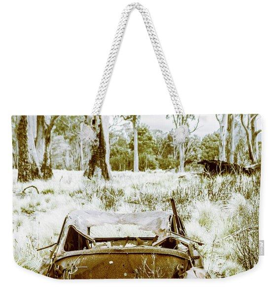 Rustic Australian Car Landscape Weekender Tote Bag