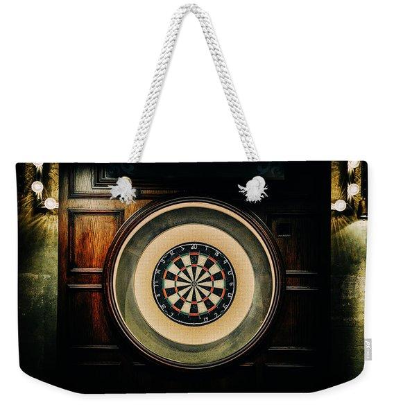 Rustic British Dartboard Weekender Tote Bag