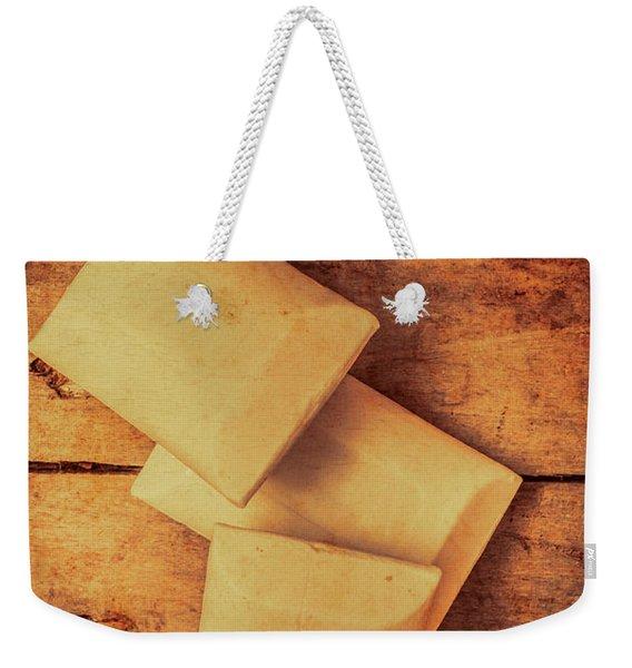 Rustic Country Soap Bars Weekender Tote Bag