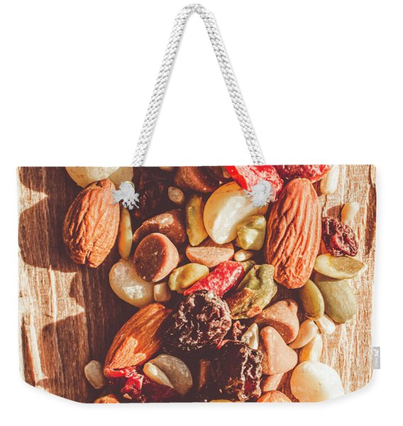 Rustic Dried Fruit And Nut Mix Weekender Tote Bag