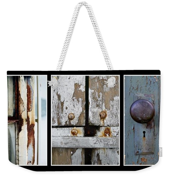 Weekender Tote Bag featuring the photograph Rustic Elements by Patricia Strand