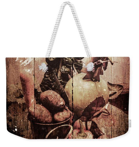Rustic Kitchen Tin Sign Weekender Tote Bag