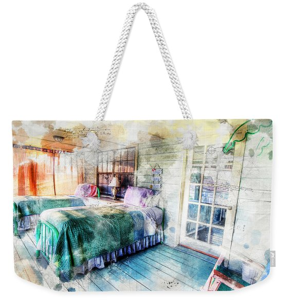 Rustic Look Bedroom Weekender Tote Bag