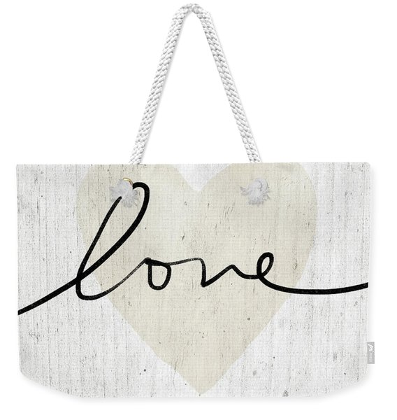 Rustic Love Heart- Art By Linda Woods Weekender Tote Bag